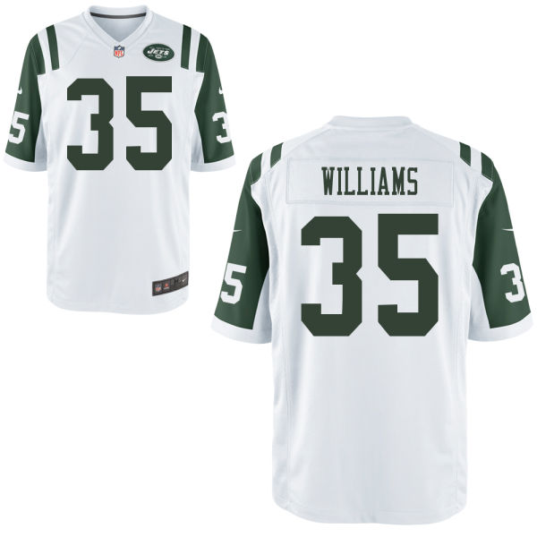 Dominique Williams Youth Nike New York Jets Game White Jersey
