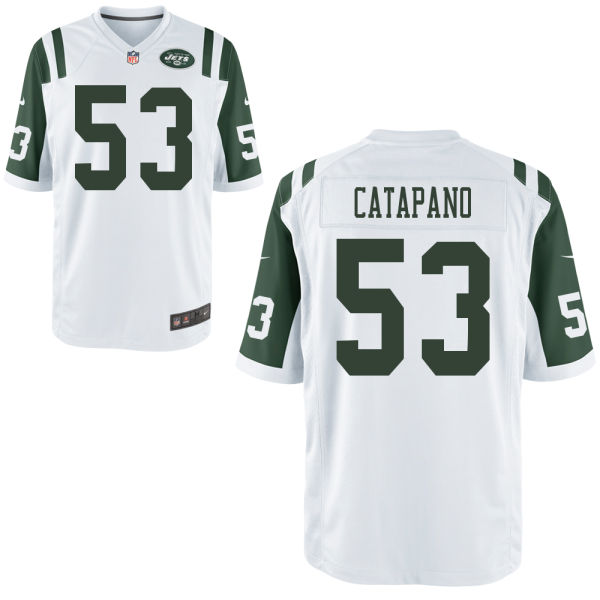Mike Catapano Youth Nike New York Jets Limited White Jersey