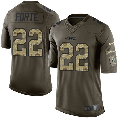 Matt Forte Nike New York Jets Limited Green Salute to Service Jersey