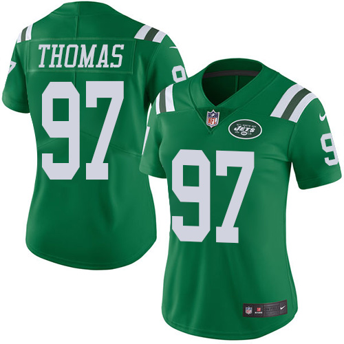 Lawrence Thomas Women's Nike New York Jets Limited Green Color Rush Jersey